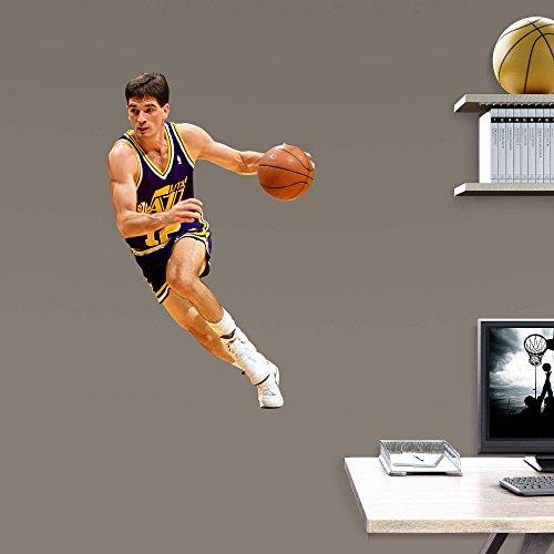 John Stockton FATHEAD Jr. Utah Jazz Hall of Famer! Official NBA Vinyl Wall Graphic 32