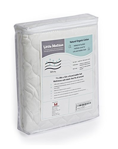 Baby Crib Mattress Waterproof with Top Layer from Organic Cotton and Elasticated on the Edge