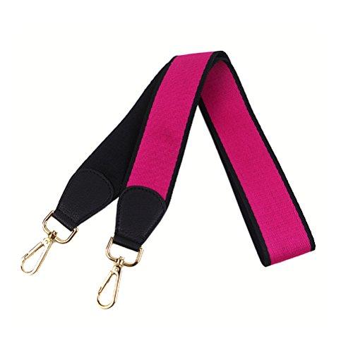 Umily Universal Correa de Hombro Cinturón Bolsa Accesorios Bolso De Hombro Del Cinturón Recambio Desmontables Para Mujeres 103cm Negro + RoseRed