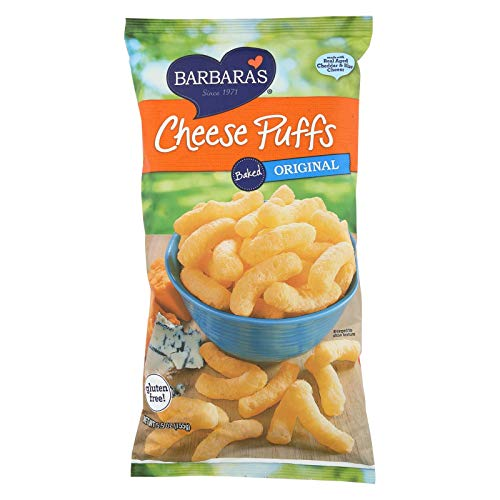 Barbara's Bakery Baked Original Cheese Puffs - Case of 12 - 5.5 oz.