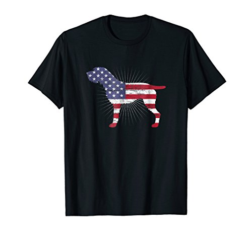 German Wirehaired Pointer American Flag Patriotic Dog Owner