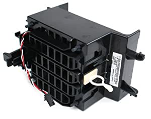 Dell Dimension 9100, XPS 400 Case Cooling Fan and Shroud Assembly, Dell Part Numbers: G8362 (Assembly), C8563 (Fan), J8133 (Shroud), Also Compatible With The Following Dell Systems: Precision Workstation 380 & PowerEdge SC430 Systems, Compatible Model Numbers: EFC0912BF, M35500-58