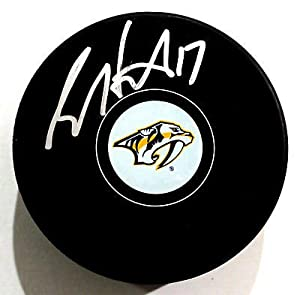 Scott Hartnell Signed Nashville Predators Autograph Puck w/COA