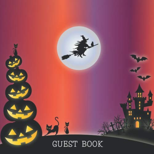 Esl Halloween Adults (GUEST BOOK: Party Registry Sign in Book - Halloween Theme -  Spooky Memories for October 31 - Ideal for Adult or Teenager Gothic Costume)