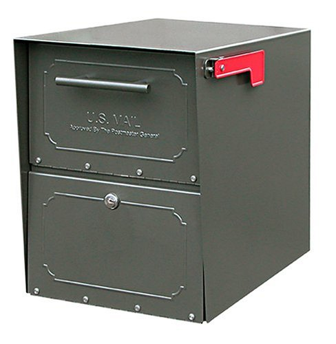 Architectural Mailboxes Oasis Classic Large High Security Parcel Mailbox, Bronze (Curbside Oasis Mailbox Locking)