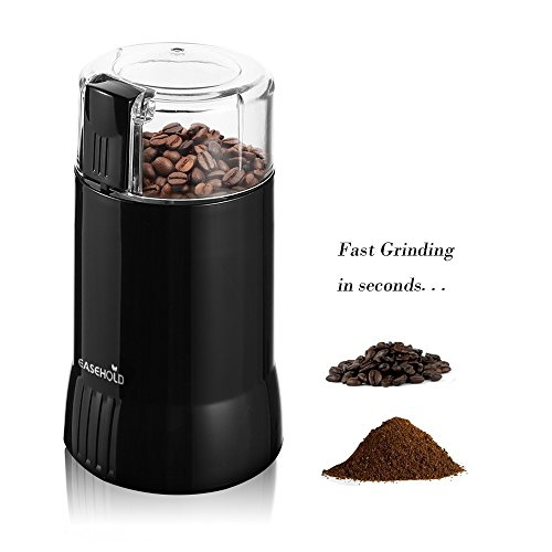 Easehold Electric Coffee and Spice Grinder 200W Stainless Steel Blade Portable Pepper Herb Mill Grater