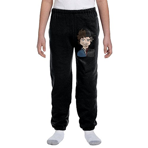 Price comparison product image Kelmo Young Boy Girl Sweatpants Bob Dylan Training Pants Black M
