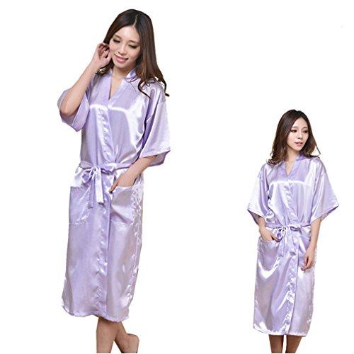 Notte e Kimono Stampa a Pigiami Camicie Caldo e Vestaglie Chiaro WYSMOL da Viola Sposa SPYwM8