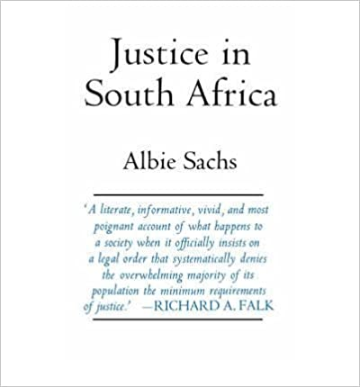 Sachs: Justice in South Africa (Cloth)