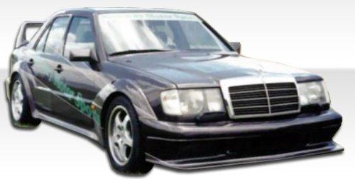 - 1986-1995 Mercedes Benz E Class W124 4DR Duraflex Evo 2 Widebody Kit - Includes EVO 2 Widebody Front Bumper (105375), EVO 2 Widebody Sideskirts (105376), EVO 2 Widebody Rear Bumper (105377), EVO 2 Widebody Fender flares (105378), EVO 2 Widebody Doorcaps (105379) - Duraflex Body Kits