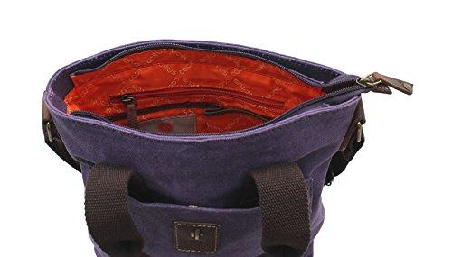 Body Bag Cactus 81 Gris De Violet cross Grab Curtida Apenada La Lona Cl811 Piel Y vznUvTBwq