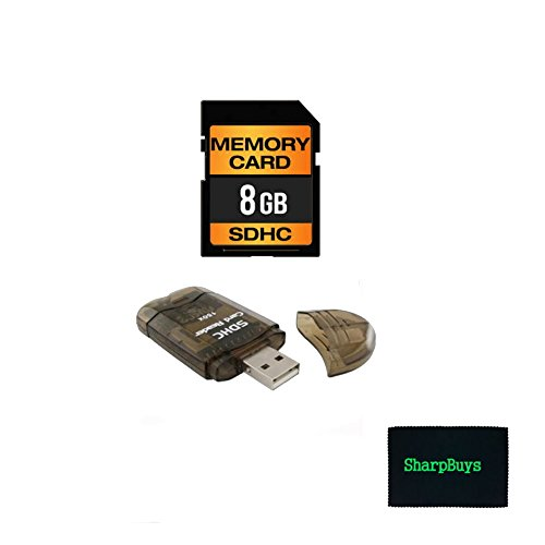 Deluxe Memory Package for Nikon D50 Digital Camera and similar models- 1x SD 8gb Class 10 Ultra High Speed Error Free SDHC Memory Card + 1x High Speed All in 1 USB Card Reader