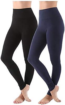 AEKO Women/'s Yoga Pants Soft Cotton Blend High Waist Workout Leggings L//XL USA