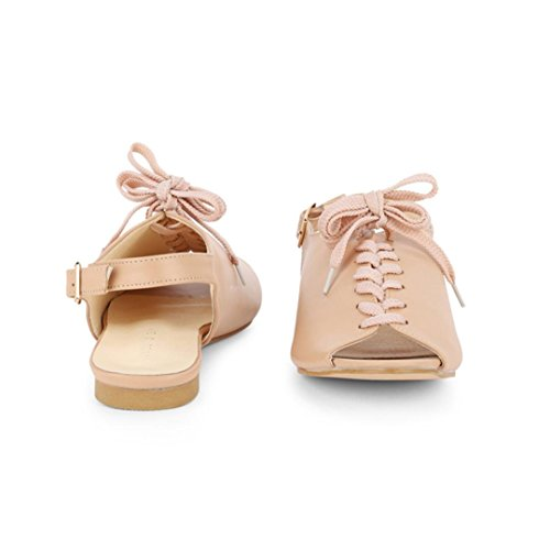 Lolittas Retro Roman Gladiator Flat Strappy Sandals for Women Ladies Size 2-7,Summer Embellished Open Toe Wide Fit Slingback Lace up Cushioned Outdoor Shoes Pink