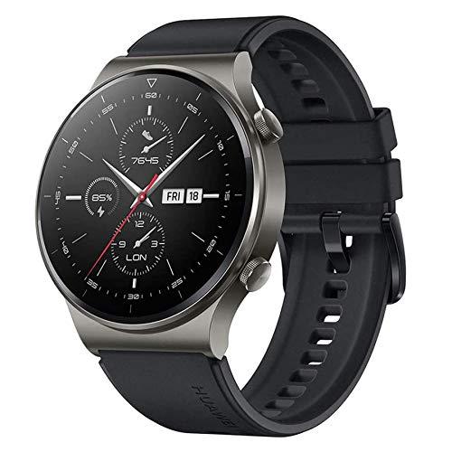 HUAWEI Watch GT 2 Pro Smart Watch 1.39 inch AMOLED Touchscreen SmartWatch Sport GPS & GLONASS 14 Days Battery Life, Heart Rate Tracker, Blood Oxygen Monitor, Waterproof, Bluetooth Calls, Black