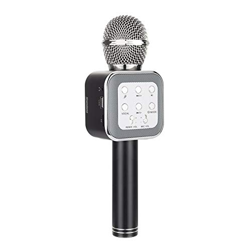 Shendong Pop Solo Wireless Bluetooth Karaoke Microphone with Built-in Speaker, Portable Handheld Karaoke Machine for Android Phone/iPhone/iPad/PC/ MP3/ MP4 ()
