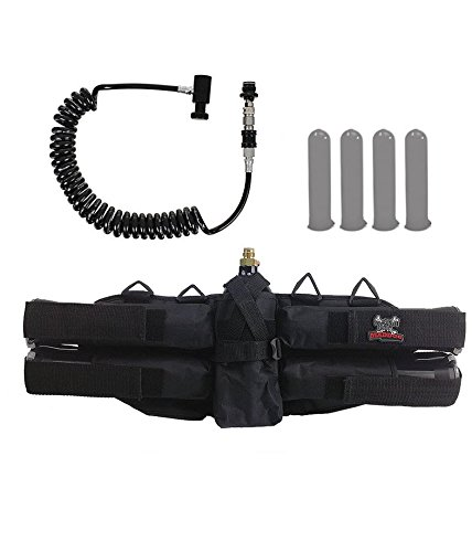MAddog Sports 4+1 Paintball Harness w/Pods & Remote Coil w/Slidecheck ()