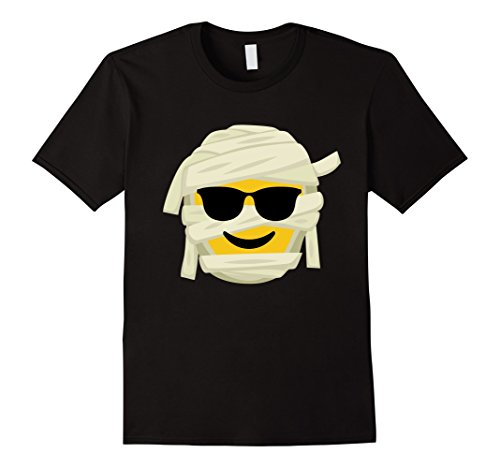 Costumes For People With Glasses (Mens Mummy Emoji T-Shirt Sunglasses Halloween Costume Gift Medium Black)