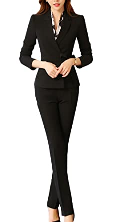 Amazon.com: Oncefirst Womens Formal Belt Blazer and Pants ...