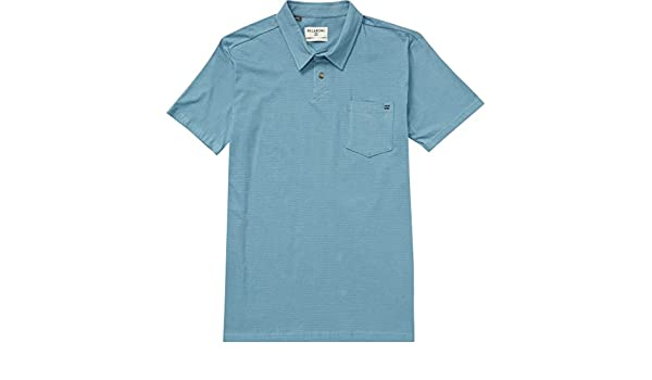 BILLABONG Hombres M915LSTA-BKH-S-A Manga Corta Camisa Polo - Azul ...