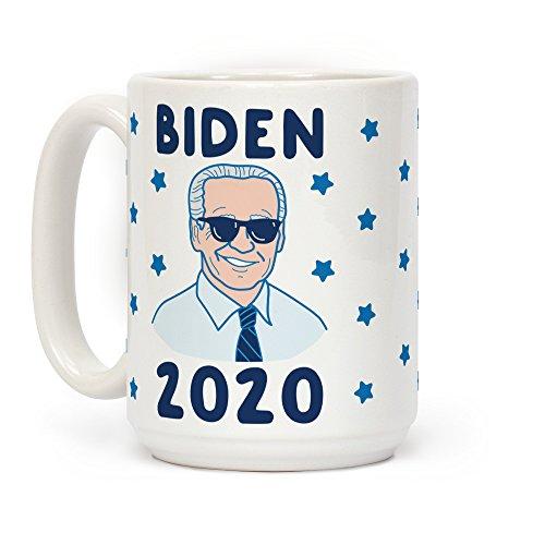 Joe Biden Mug - LookHUMAN Biden 2020 White 15 Ounce Ceramic Coffee Mug