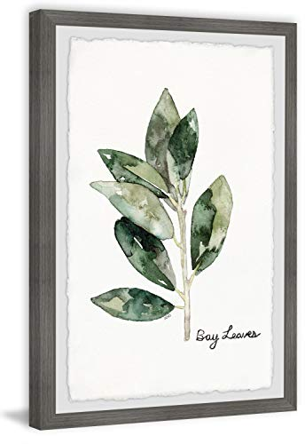 Marmont Hill Herb Bay Leaves Framed Painting Print 24x36