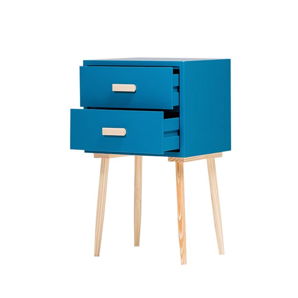 ZHAOYONGLI Tische,Beistelltische Einfaches Modernes Schlafzimmer Bedside Small Cabinet Mini Bedside Storage (Farbe : Lake Blue 43 * 33 * 72cm)
