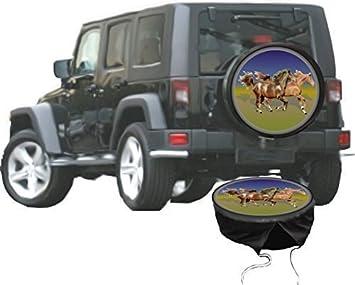DSF Funda para rueda de repuesto protectora Caballos para su Jeep: Amazon.es: Coche y moto