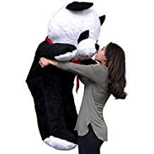 American Made Giant Stuffed Panda 54 Inches Tall Soft Stuffed Huge Panda Bear Made in the USA America