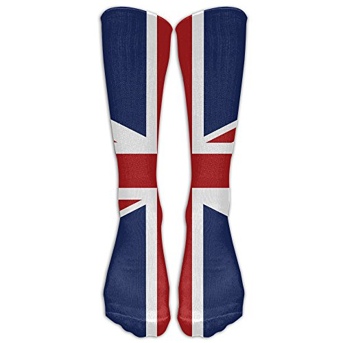 ZqSok Union Jack Flag Knee High Socks Men&Women Athletic Long Tube Stockings For Running,Hiking,Soccer