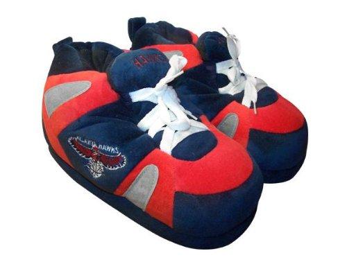 Pieds Heureux Et Pieds Confortables Hommes Et Femmes Pantoufles De Sneaker Nba Officiellement Agréés Atlanta Hawks