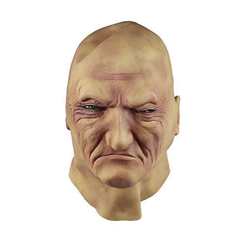 [Realistic Man Mask Old Male Disguise Halloween Fancy Dress Bruiser Bouncer Latex] (Old Man Halloween Mask)