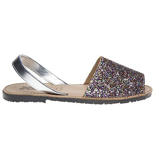 Metallic Multi XTI Palma Sandals Glitter qtCaw7CEx