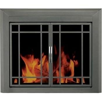 Amazon.com: Pleasant Hearth CB-3301 Colby Fireplace Glass Door ...