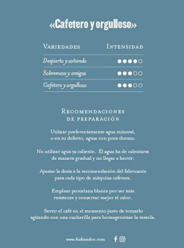 Fudi&Co CAFETERO Y ORGULLOSO - Café de especialidad de Costa Rica - 4 Paquetes de 10 Cápsulas c/u Compatibles Nespresso ® - 100% Compostable: Amazon.es: ...