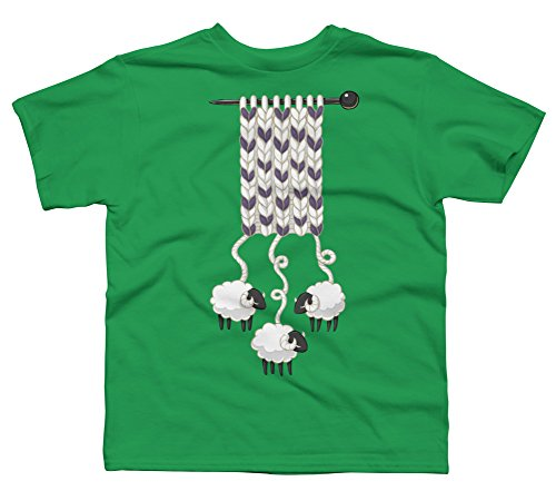 Design By Humans Wool Scarf Boy's X-Small Kelly Green Youth Graphic T Shirt