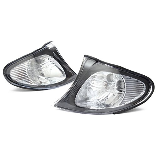 Ricoy Pair For 2002-2005 BMW E46 3-SERIES 4DR Sedan Corner Lights - Crystal Clear Lens - Crystal Clear Corner Lights