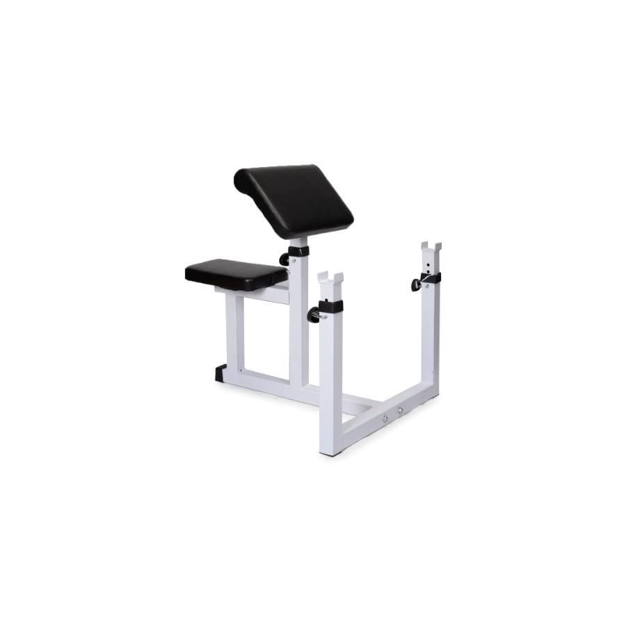 Commercial Preacher Curl Weight Bench Seated Preacher Isolated Dumbbell Biceps by Goplus
