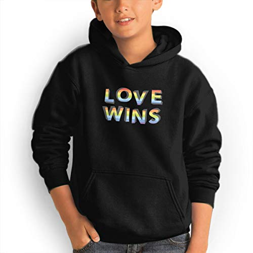 Shenhuakal Youth Hoodies LGBT Pride Ggirl%Boy Sweatshirts Pullover with Pocket Black 31 by Shenhuakal