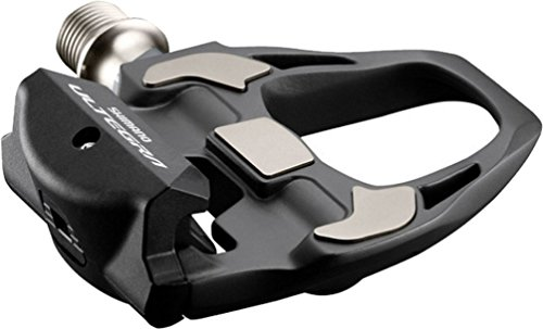 SHIMANO ULTEGRA PD-R8000 SPD-SL Pedal, 4mm Longer axle, Without Reflector, Includes Cleat, Black, One Size