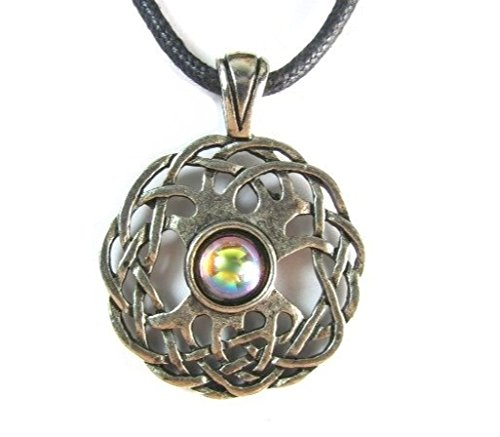 Treasures Stones Crystals & More Celtic Sexuality Pewter Pendant on Corded Necklace ~ Celtic Harmony - Pewter Pendant Harmony