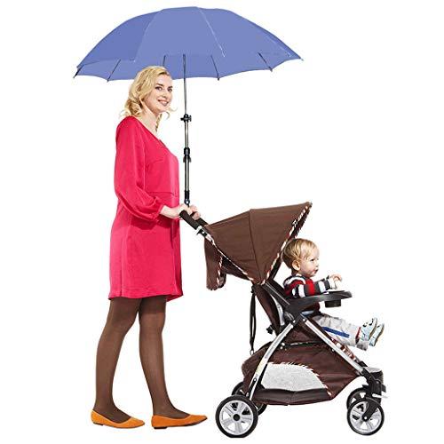 ベビーカーの傘調節可能なベビーカーの傘カート車椅子の赤ちゃんの傘ベビーカーの太陽の傘の影の傘のベビーカーの傘のフレーム調整可能なハンドル自転車の傘雨と雨の兼用傘シェードベビーカーの傘UV傘高級素材の傘ほとんどの人のための傘折りたたみ傘 (ブルー)の商品画像