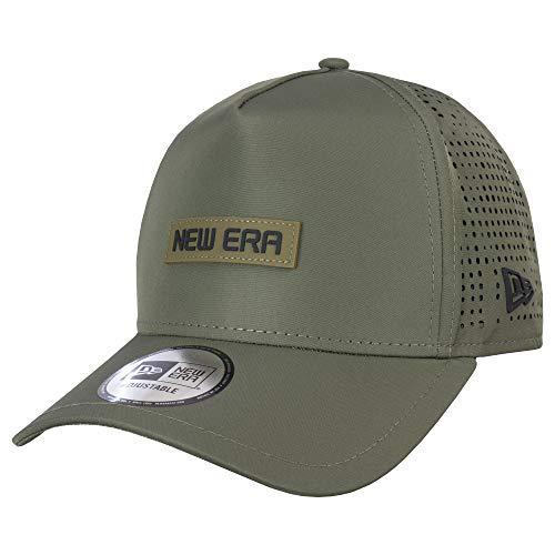 New Era Tech Perf Snapback Trucker Cap - One Size Olive
