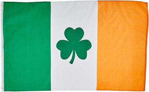 Day St Flags Patricks (3'x5' IRISH SHAMROCK FLAG, clover saint paddys pattys patty's ireland paddy's patricks st patrick's)