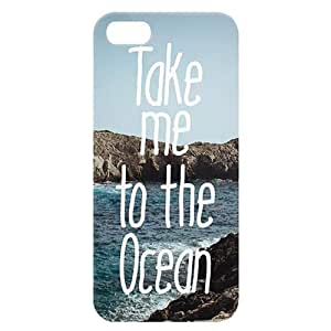 Loud Universe Apple iPhone 5/5s Take Me To The Ocean Print 3D Wrap Around Back Case - Multi Color