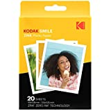 Kodak 3.5x4.25 inch Premium Zink Print Photo Paper (20 Sheets) Compatible with Kodak Smile Classic Instant Camera