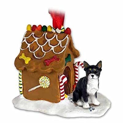 Conversation-Concepts-Chihuahua-Gingerbread-House-Christmas-Ornament-Black-White