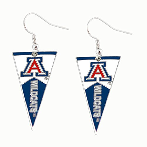 - NCAA Arizona Wildcats Pennant EarringsPennant Earrings, Team Color, 2.5