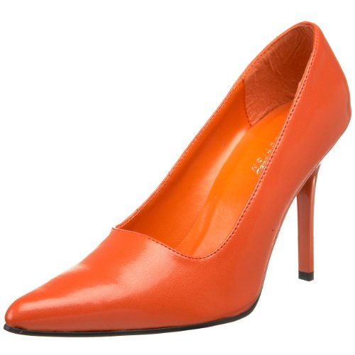 The Highest Heel Women's Classic Pump,Orange Kid Polyurethane,8 M US -
