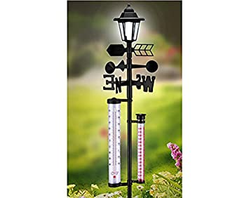 6 in 1 Weather Station with Solar Powered Light for your Garden